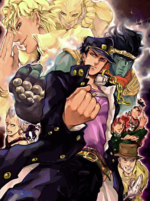 Dio and Kakyoin t