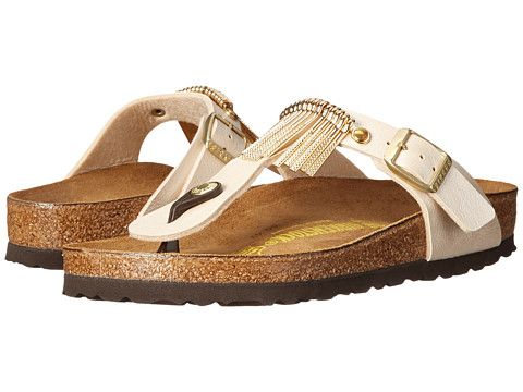 f94122a3214 Birkenstock Gizeh Fringe Graceful Licorice Birko-Flor™ - Zappos.com Free  Shipping BOTH Ways