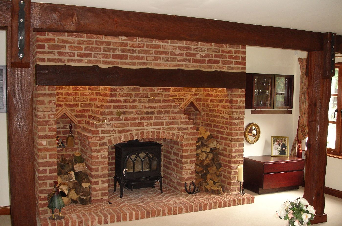 Brick Front With Fireplace Heater Fireplace Fireplace Inserts