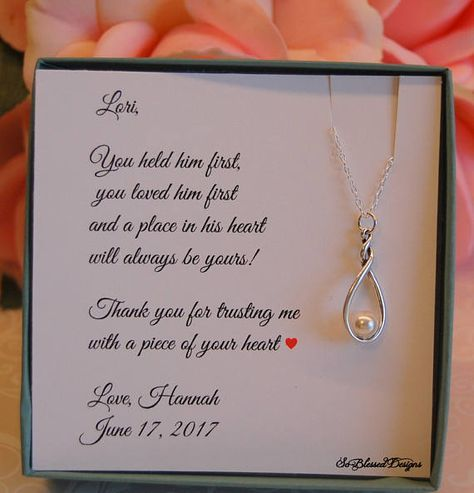 Mother Of The Bride Groom In Law Gift Wedding Daughter Necklace Weddings And