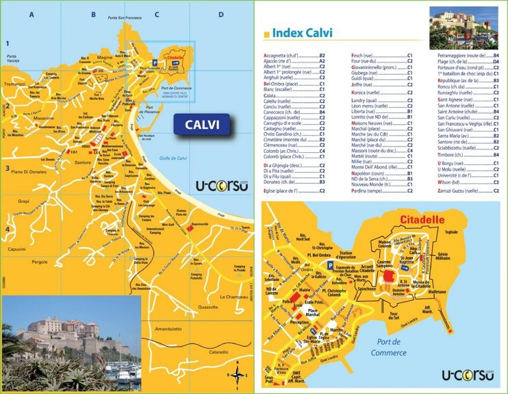Calvi tourist map Maps Pinterest Tourist map France and City