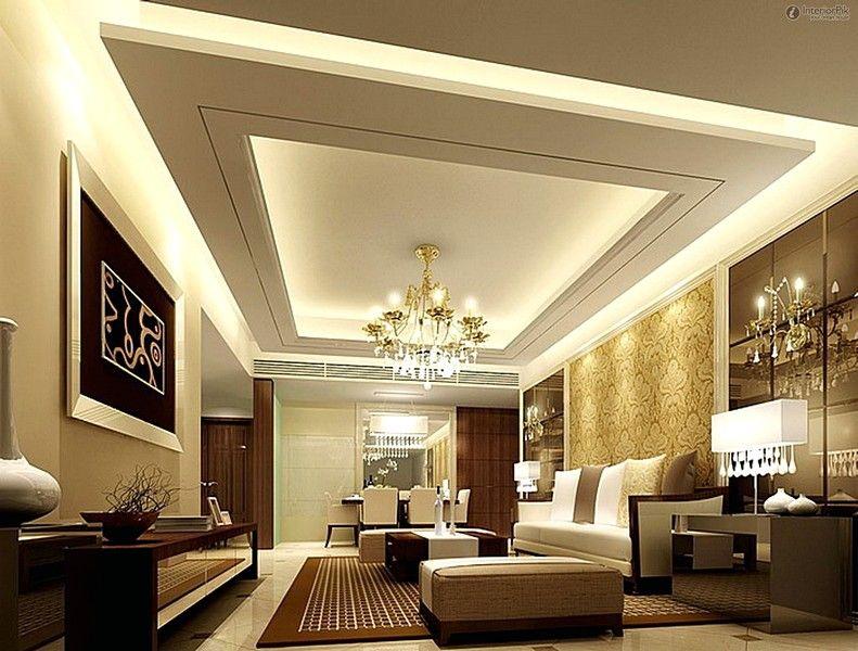 Model Plafon Gypsum Elegan Terbaru Untuk Ruang Tamu  Plafon Rumah Minimalis  Desain interior