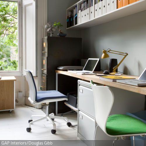 langer schreibtisch f r zwei arbeitspl tze sch nes zuhause arbeitsplatz pinterest langer. Black Bedroom Furniture Sets. Home Design Ideas