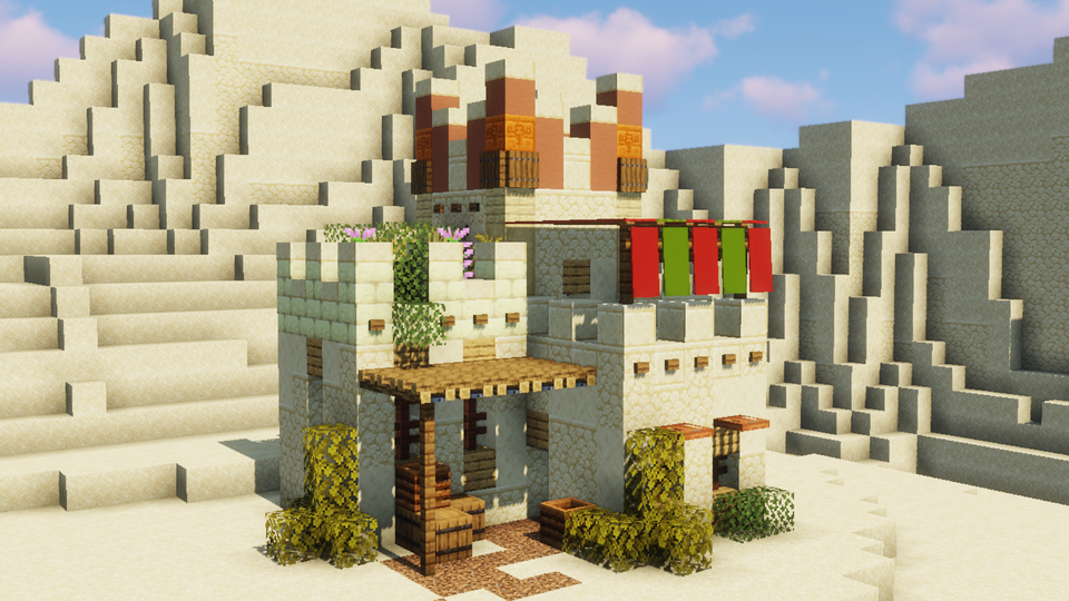 Little Cute Desert House I Made While The Server I Build On Was