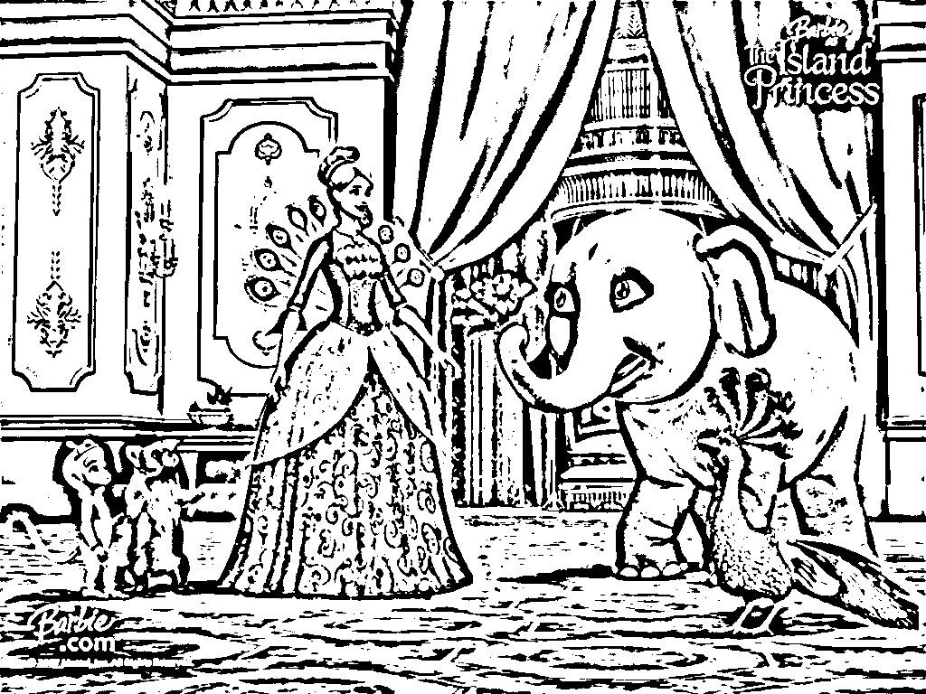 Barbie island princess coloring pages u from the thousand pictures