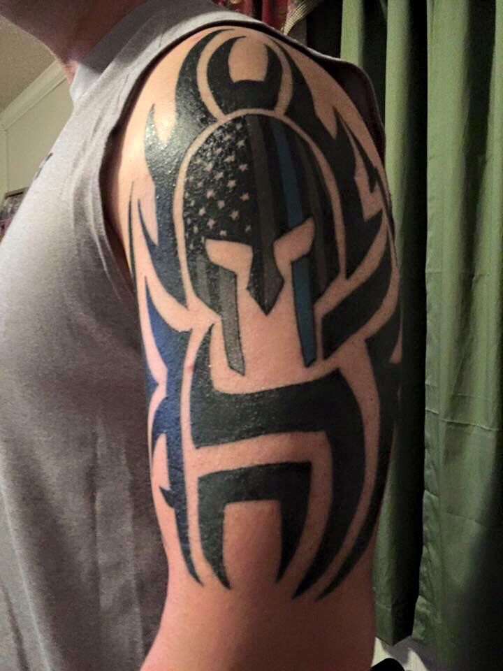 Pin By Ryan Andrew On Tattoos Tribal Shoulder Tattoos Police Tattoo Military Tattoos