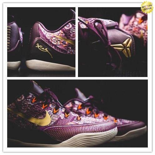 best website dc63e ccac1 646701-676 Villain Red Metallic Gold Bright Crimson Nike Kobe 9 EM