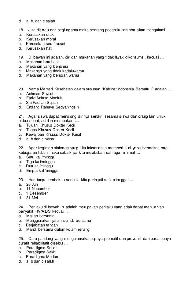 Soal Bahasa Indonesia Nilai Moral