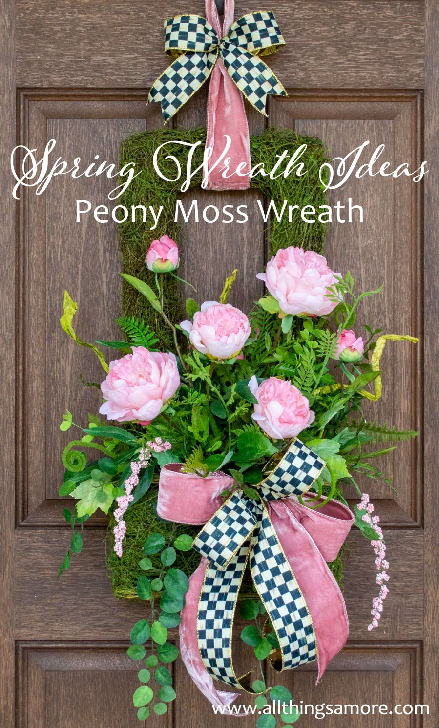 Photo of Peony Wreath, Spring Wreath, Summer Wreath, All Season Wreath