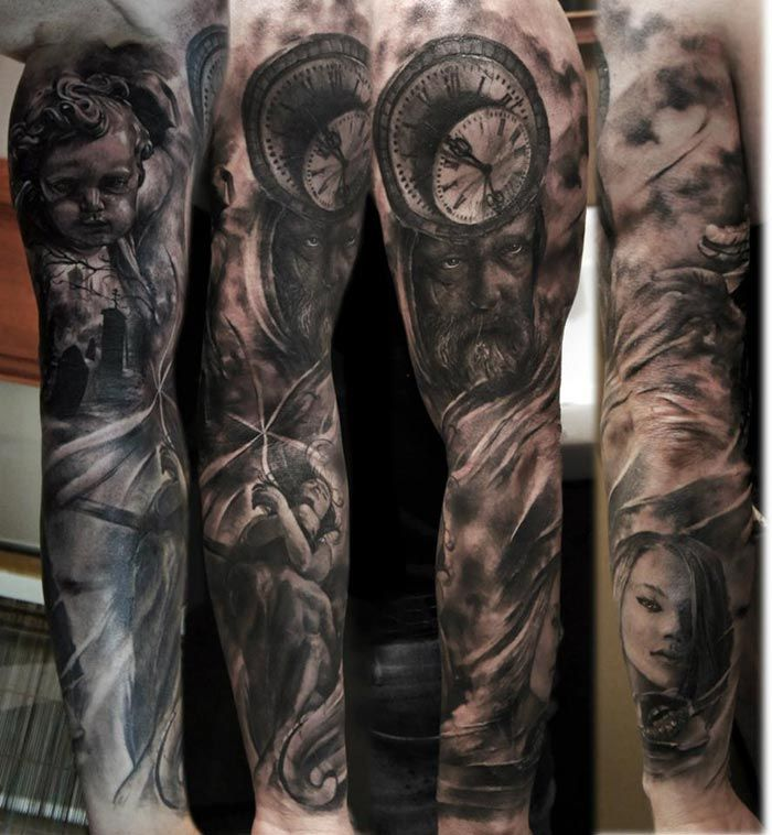 Conseils tatouage bras complet 700 758 this is the skin artists pinterest - Tatouage bras complet homme ...