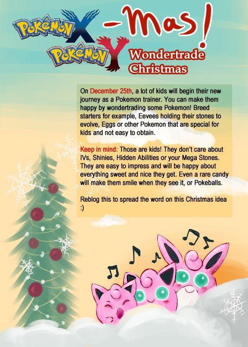 Pokemon X Mas Pokemon Xy Wonder Trade On Christmas So Kids With