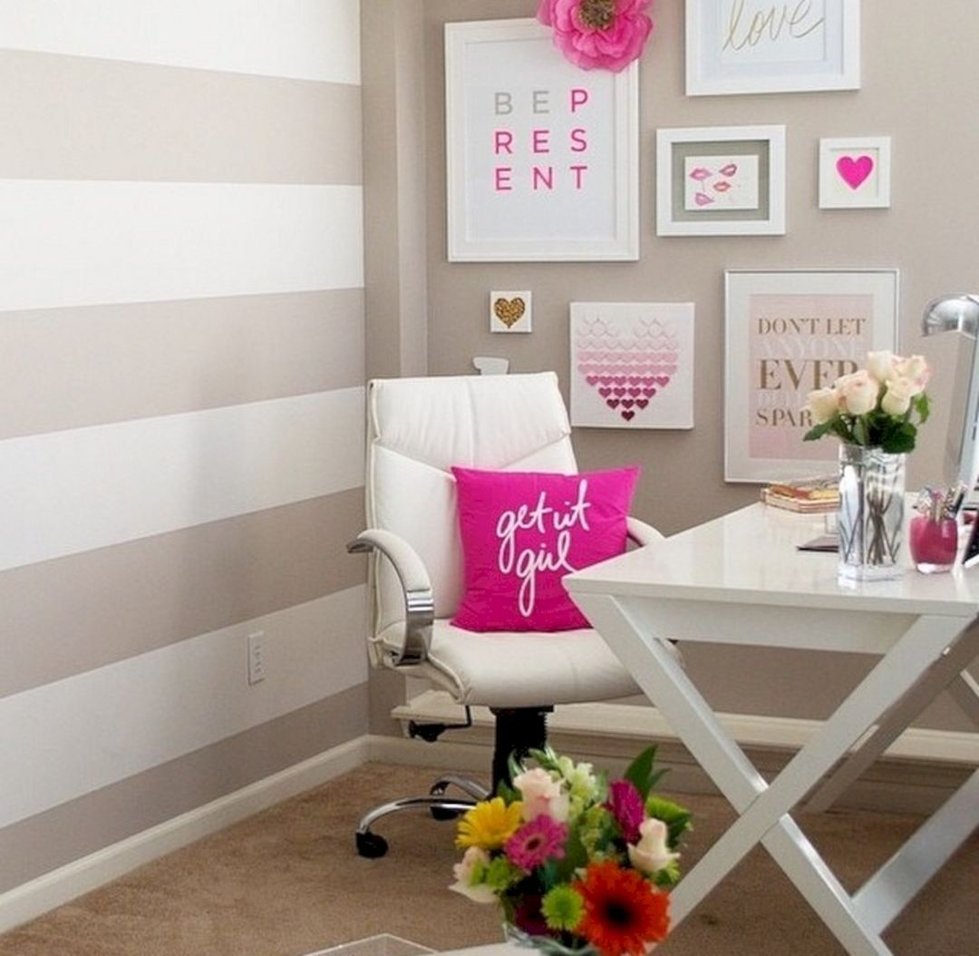 Best 25+ Most Romantic Pink Home Offices Color Scheme Ideas Http://goodsgn. Pink  Office DecorFeminine ...