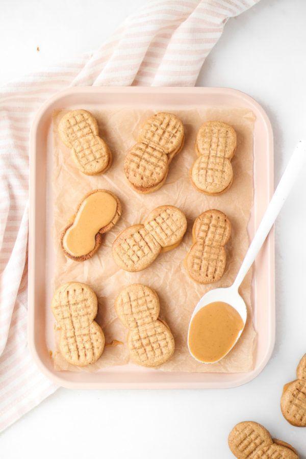 3-Ingredient Healthy Nutter Butters (vegan, gluten free, oil free, refined sugar free) - Healthy Nutter Butters (vegan, gluten free, oil free, refined sugar free) -