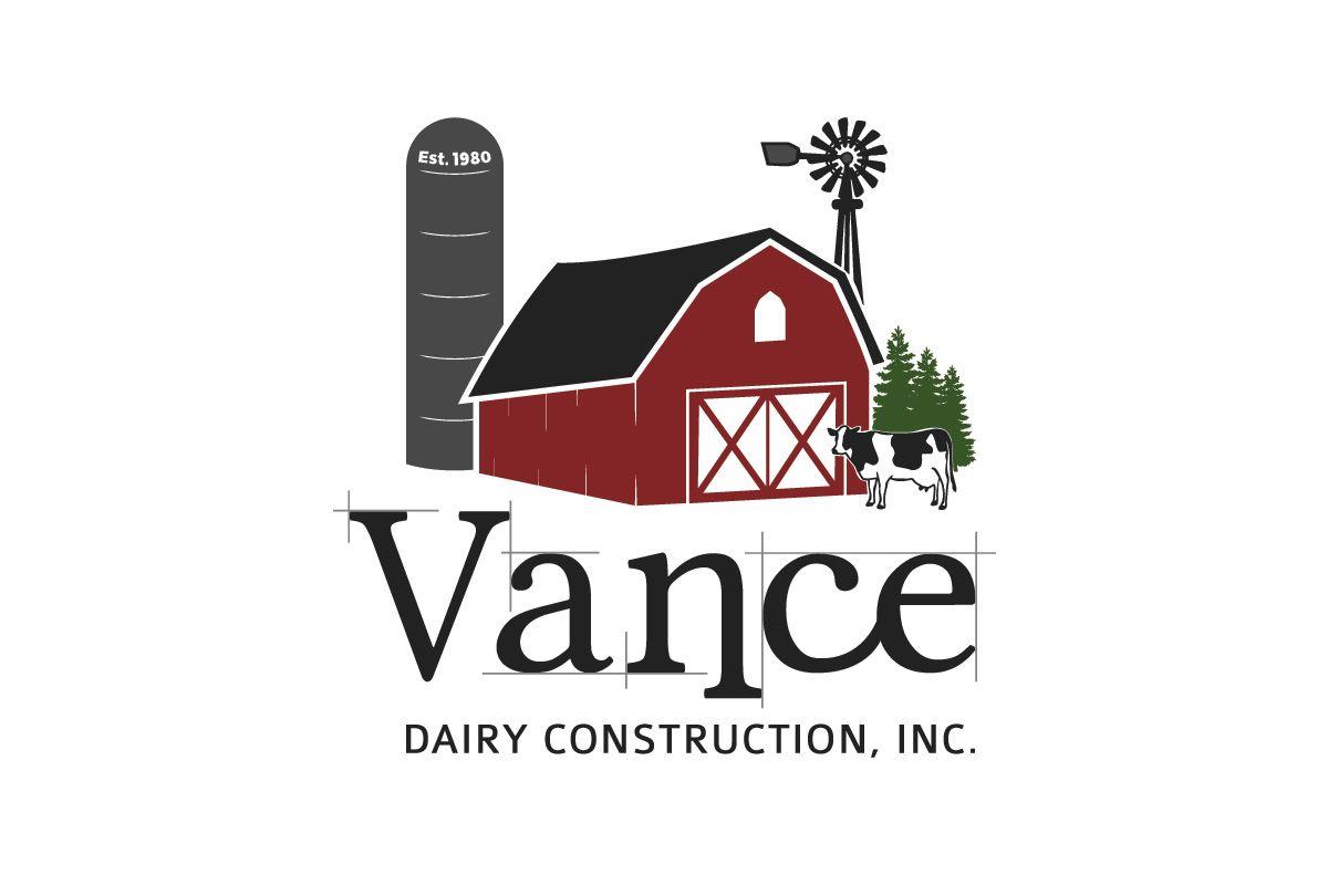 Vance Dairy Construction logo | Architect, Construction, Farm, Dairy ...