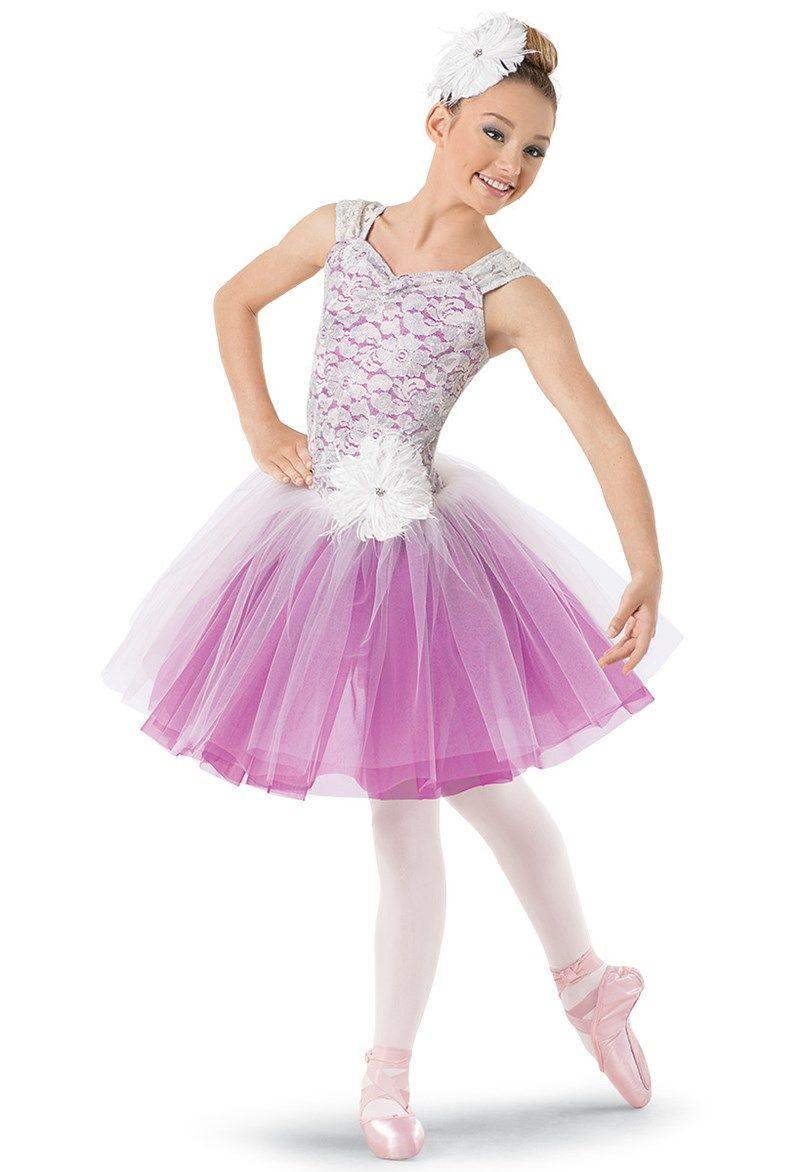 Weissman™ | Lace Tulle Degas Dress