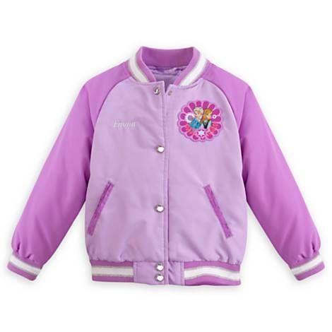 Disney Store Frozen Elsa Olaf Varsity Jacket Girl Size 7//8