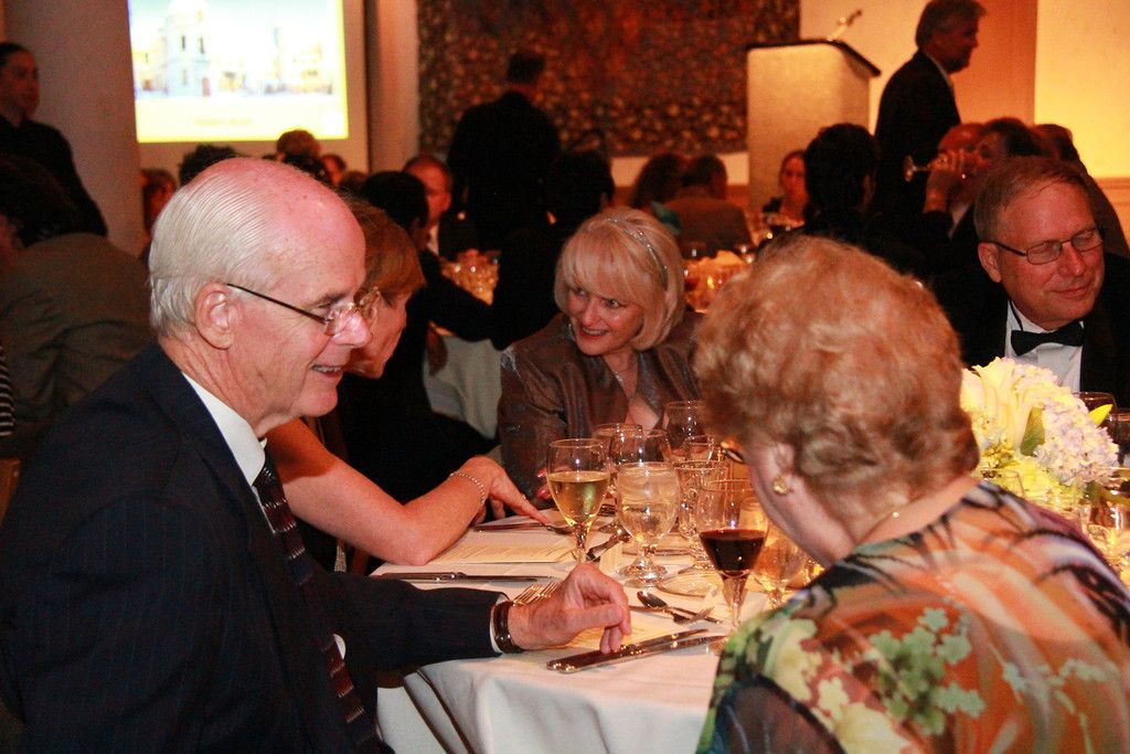 Dennis Collins with Beth & Craig Hollinger at the One World Gala Dinner on March 28, 2012