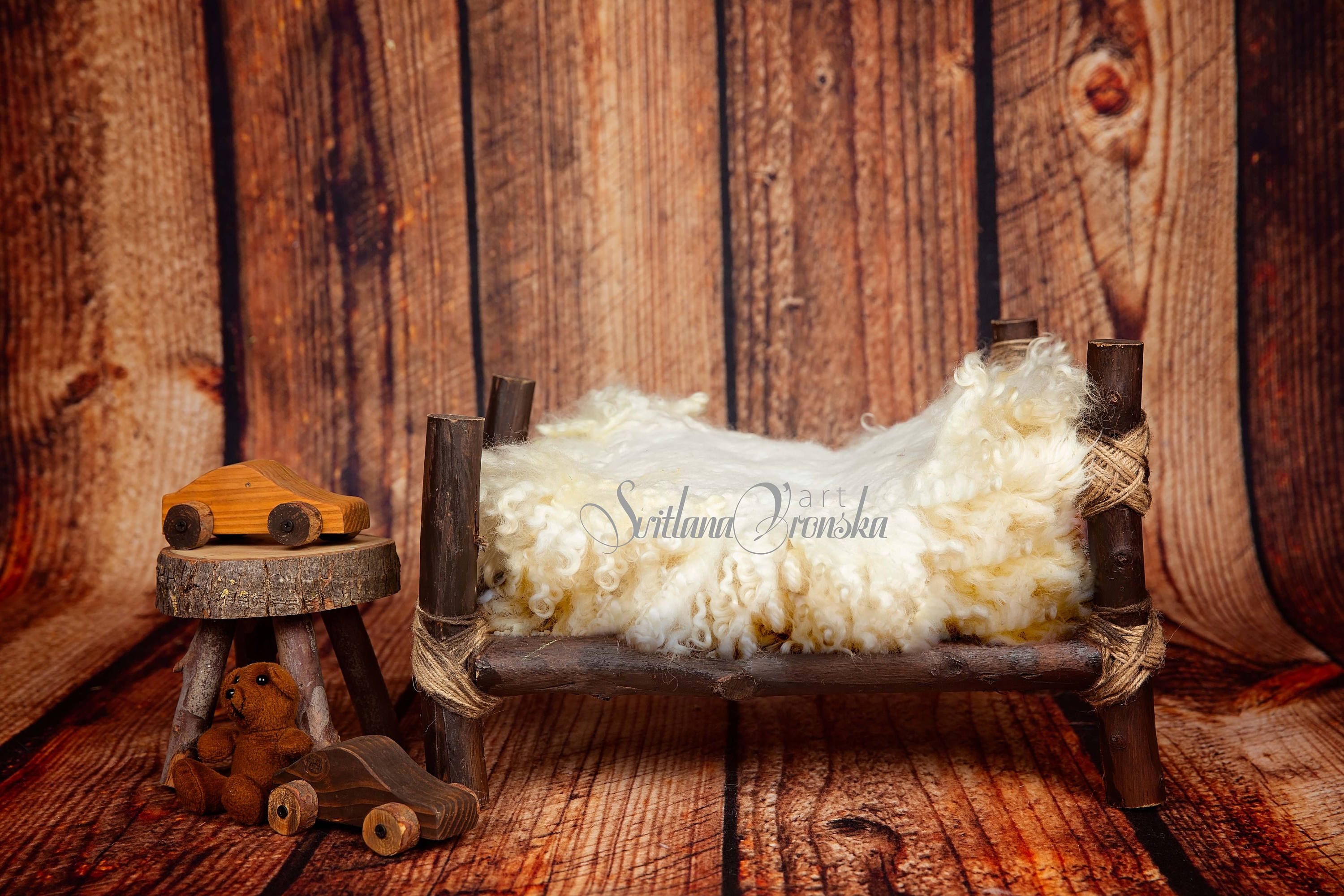 AOFOTO 3x5ft Baby Photography Background Infant Photo Shoot Backdrops Dreamy Log Cabin Florets Floor Planet Tree Sky Themed Drops Kid Child Artistic Portrait Abstract Scene Studio Props Video Digital