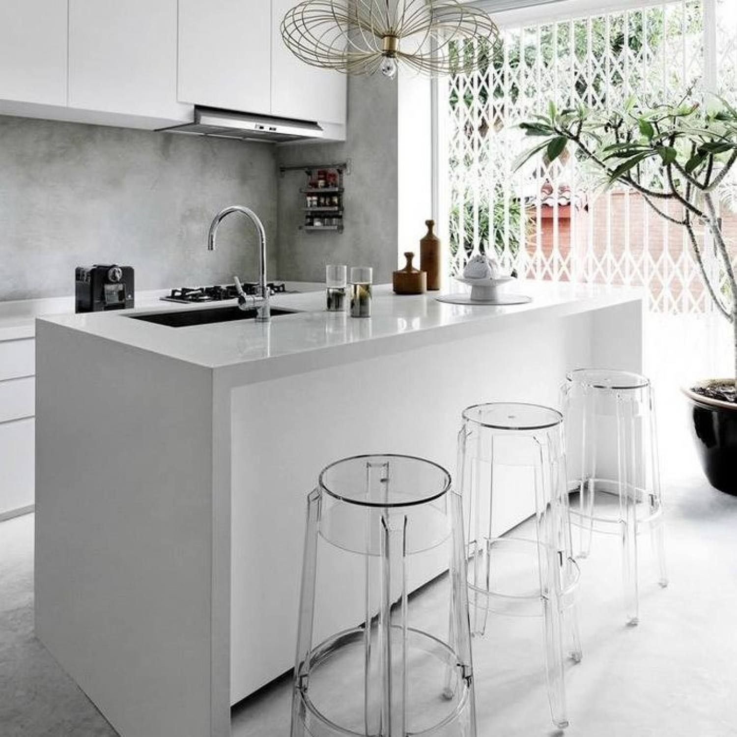 charles ghost barstool designed by philippe starck in 2005 for kartell get the originals - Philippe Starck Kitchen