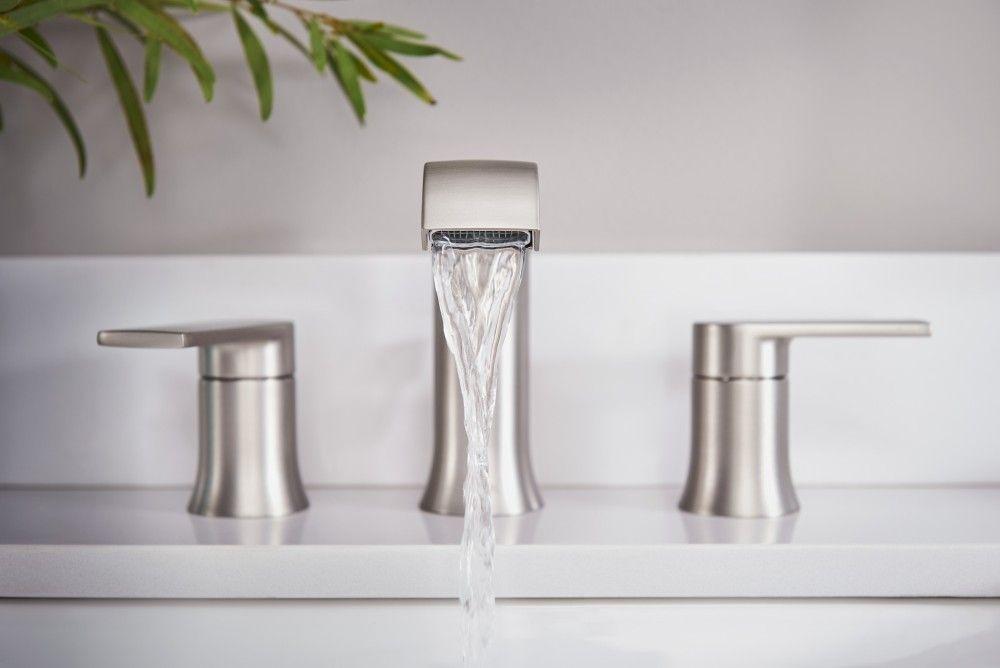 Genta Two Handle Bathroom Faucet In Spot Resist Brushed Nickel