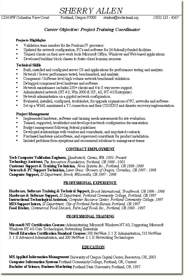Project Coordinator Resume Example - Project Coordinator Resume