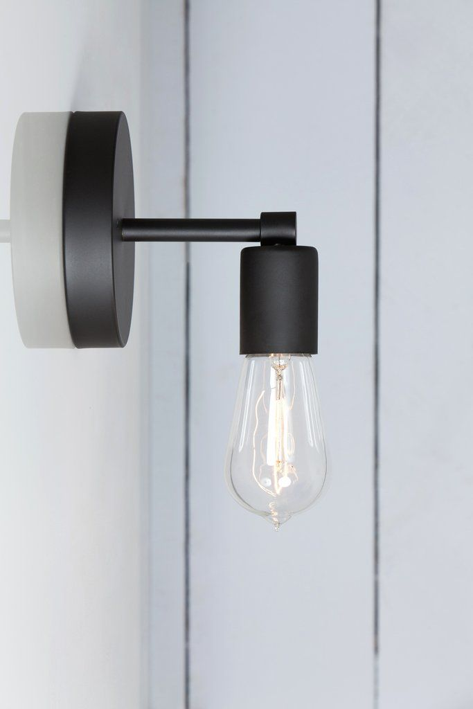 Matte Flat Black Sconce Wall Light