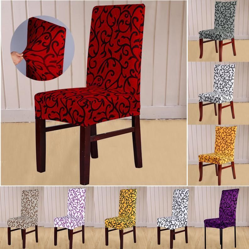 dining room chair covers ebay white wood 1 49 stretch banquet slipcovers wedding folding party short home garden