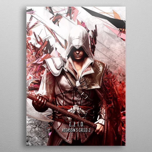 Assassin's Creed 2 Ezio Auditore metal poster | Displate thumbnail