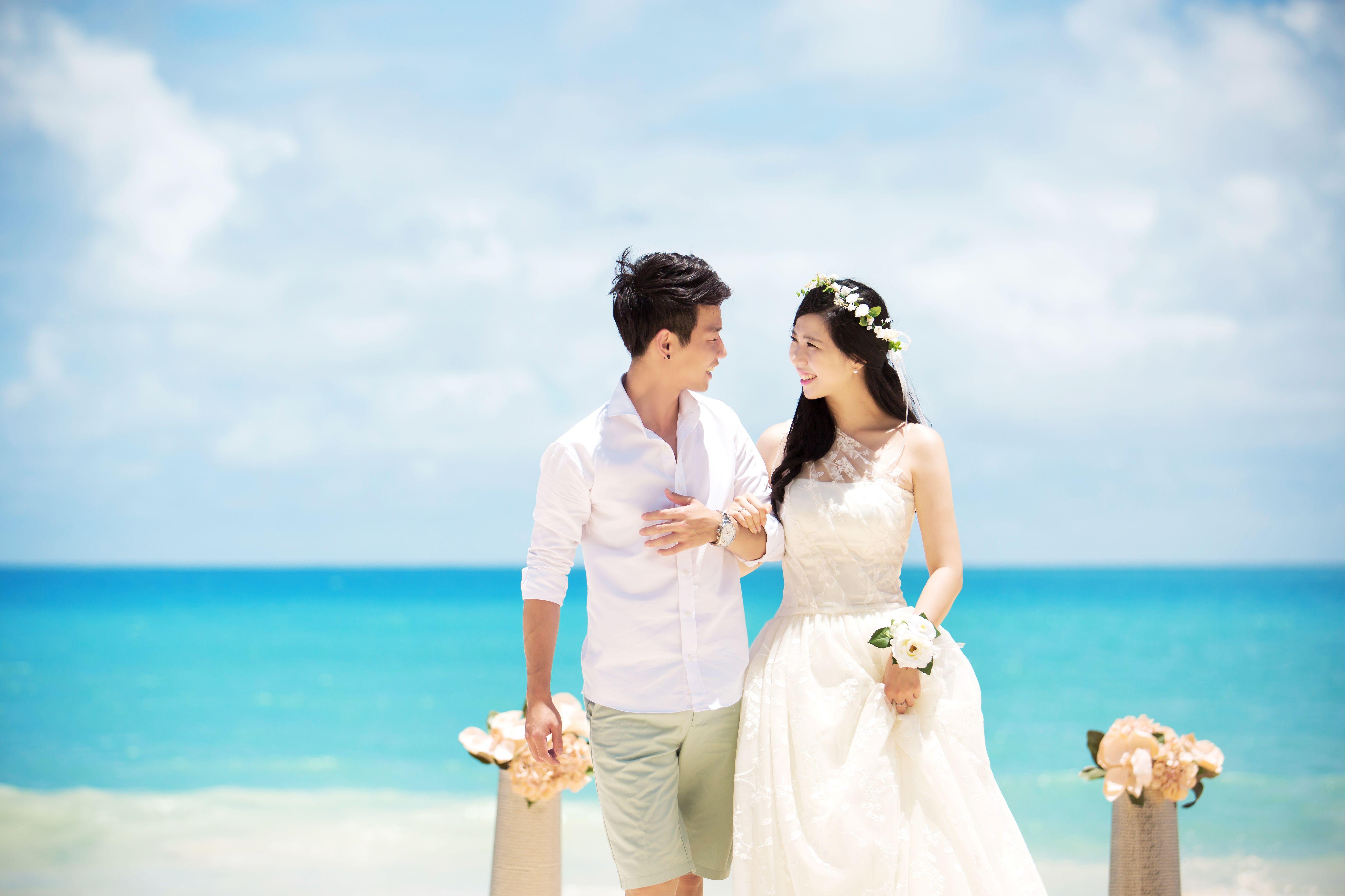 East coast beach wedding - Waimanalo beach wedding, labella hawaii ...
