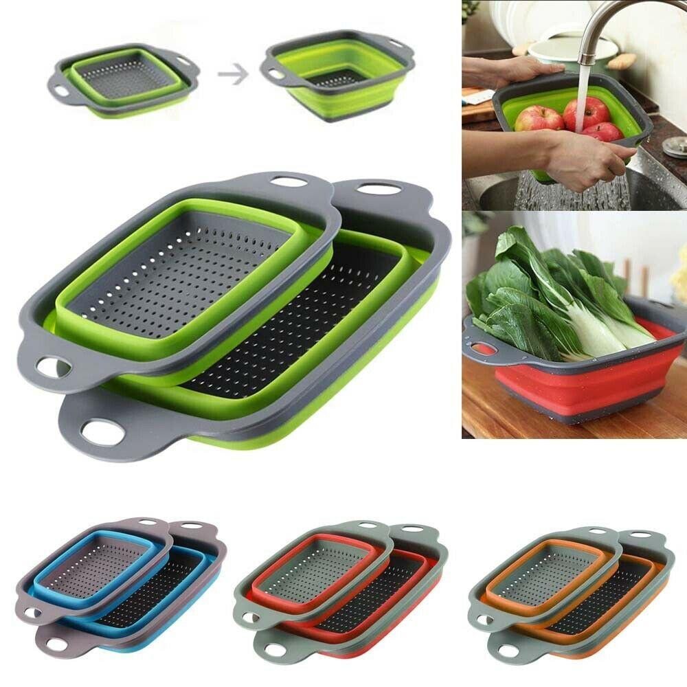 Folding Colander Draining Basket Fruit Vegetable Washing Kitchen Strainer Drain Ebay In 2020 Fruit And Vegetable Wash Kitchen Strainer Washing Basket