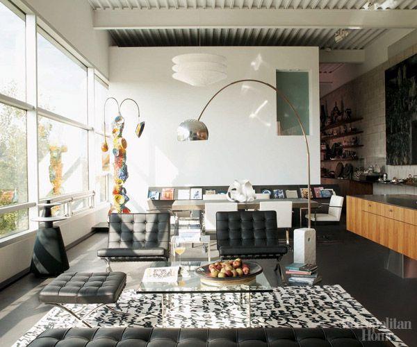 Design Under The Influence The Barcelona Chair Elle Decor Living Room Modern Room Design Elegant Living Room Design