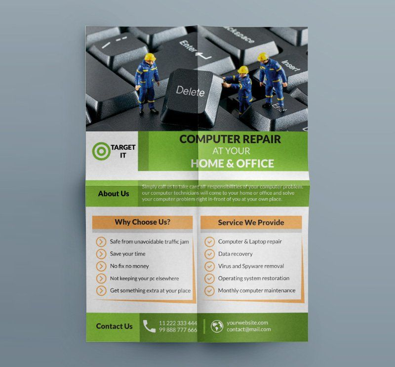Free Computer Repair Flyer Template Psd | B | Pinterest | Flyer