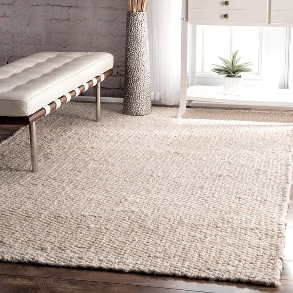 nuLOOM Handmade Natural Bleached Jute Rug (5' x 8') | Overstock.com Shopping - The Best Deals on 5x8 - 6x9 Rugs