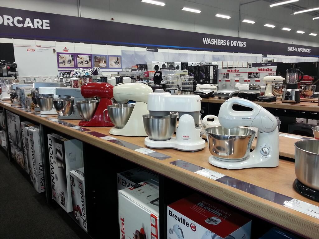 nice line-up of small domestic appliances at our future store in