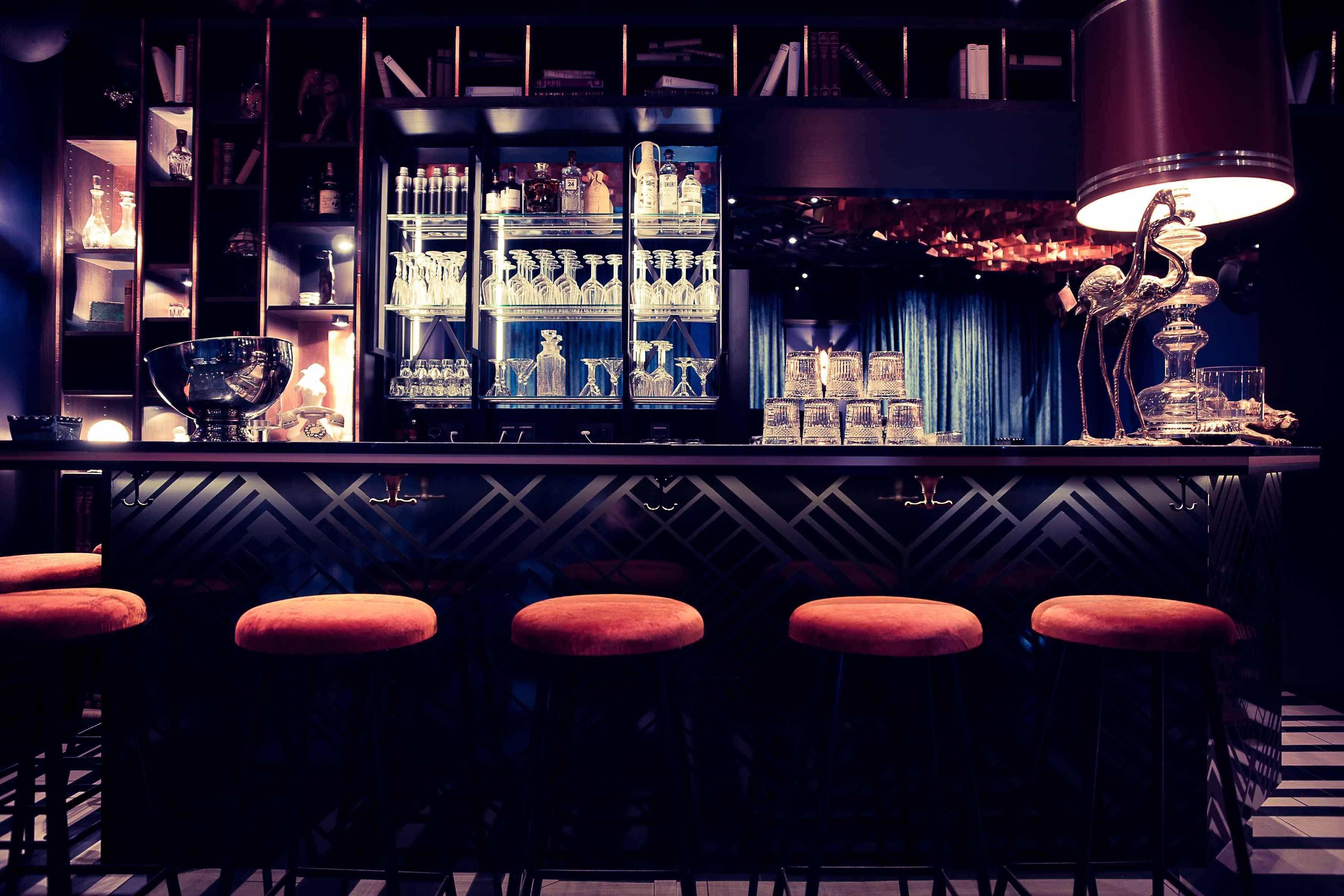 bonbon bar berlin designnovono. bar counter, art deco. pattern