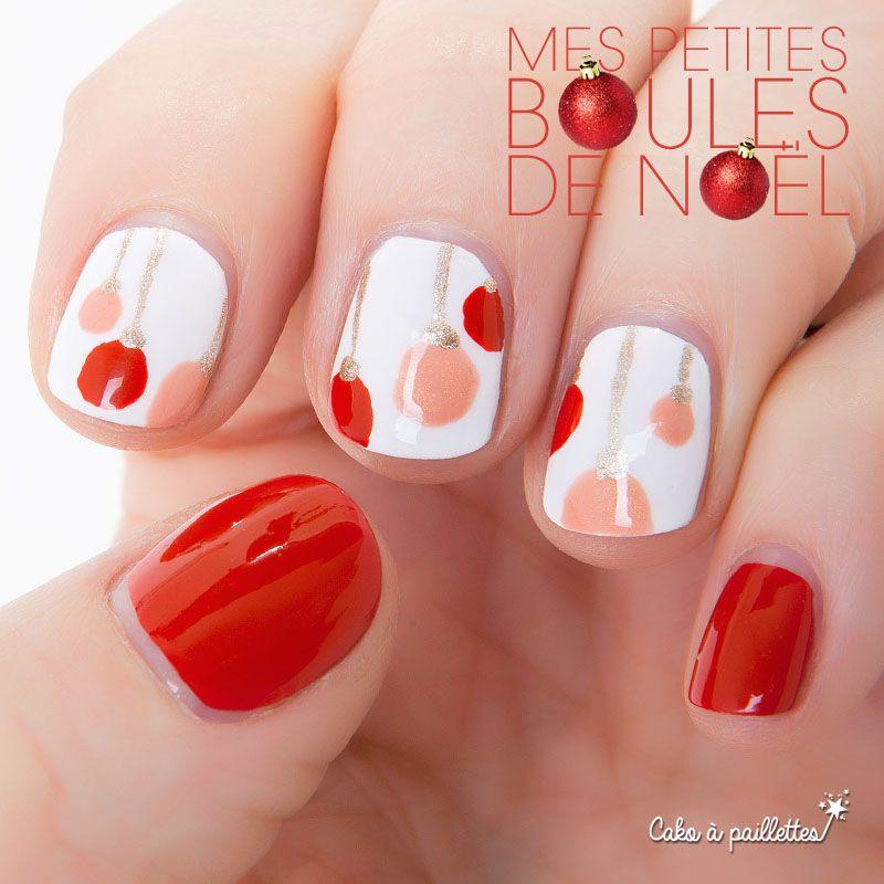 na boules de noel 2 ongles nail art creative nails et art. Black Bedroom Furniture Sets. Home Design Ideas