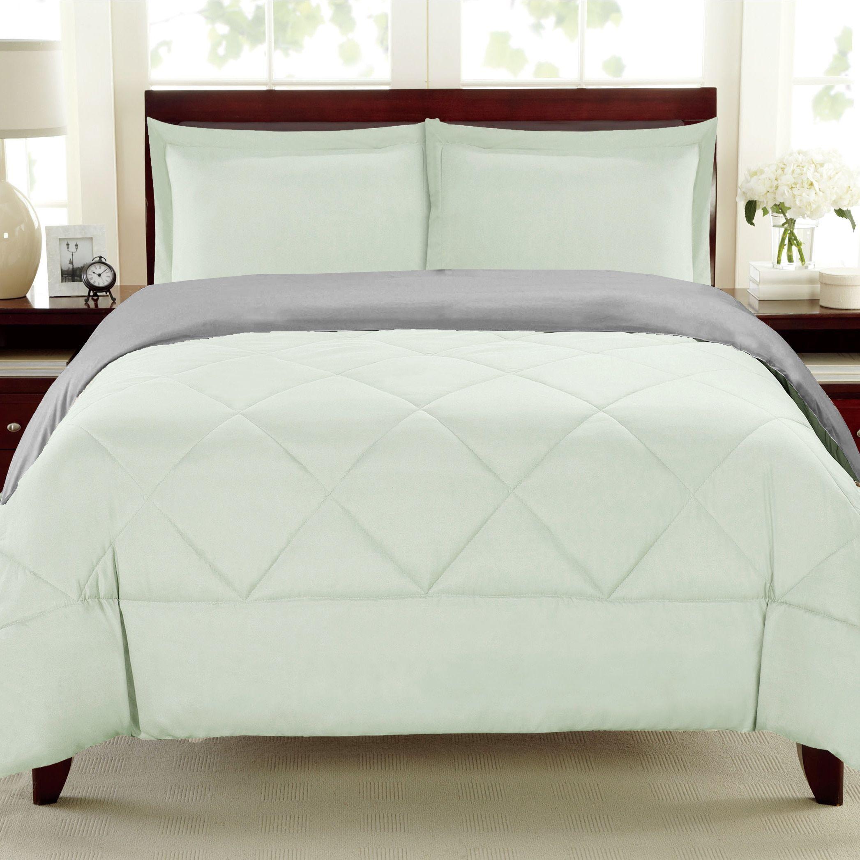 Wayfair basics wayfair basics 7 piece comforter set amp reviews - Reversible All Season And Mint 3 Piece Comforter Set