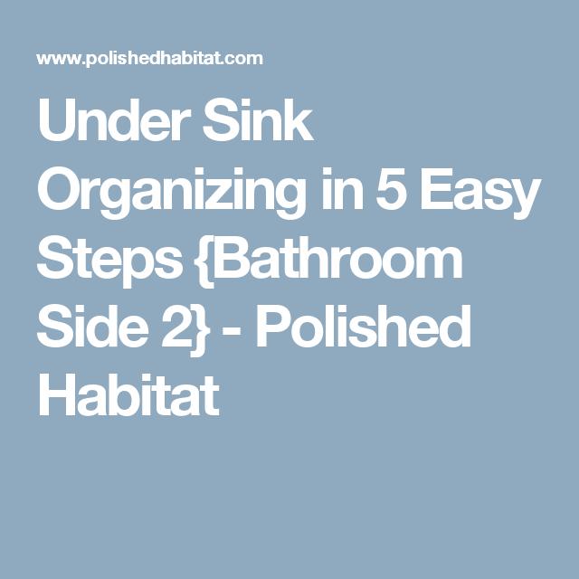 Under Sink Organizing in 5 Easy Steps {Bathroom Side 2} - Polished Habitat