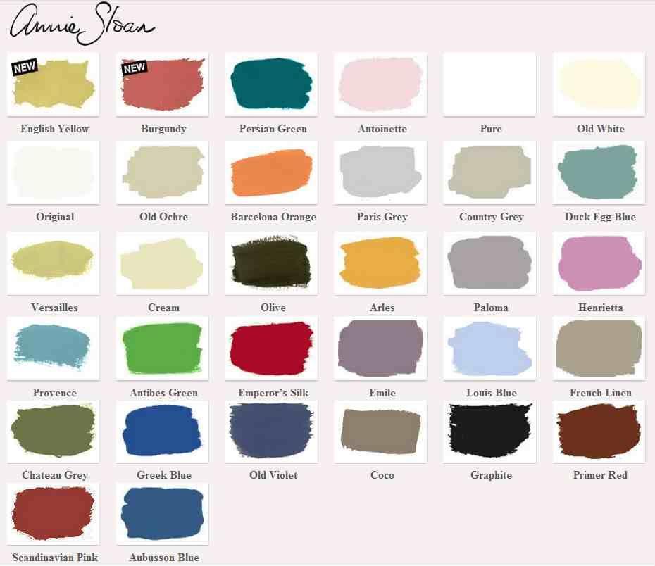 Ongebruikt Kleurenkaart van Annie Sloan bij Vintage Furniture   Annie sloan VS-36