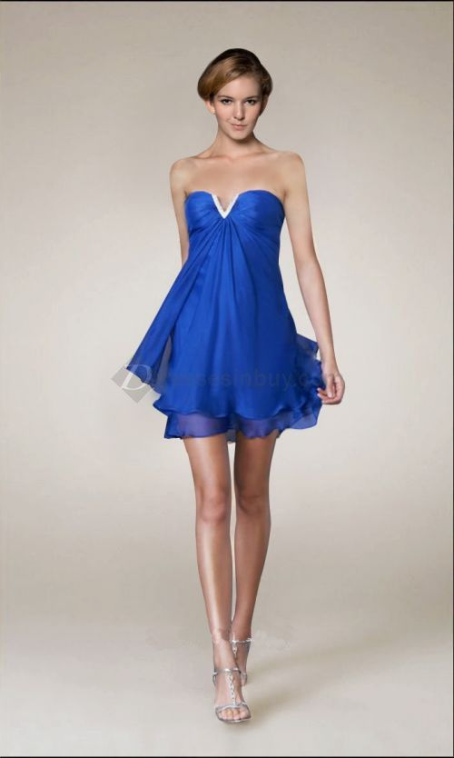 Short royal blue dresses for prom