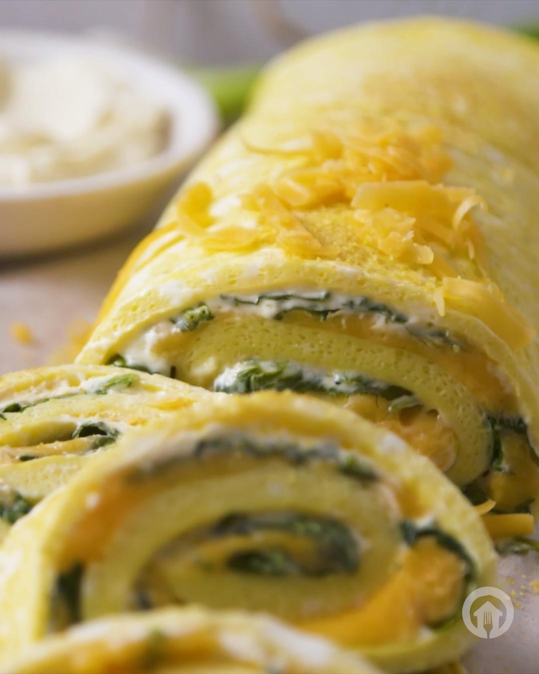 Easy Omelette Egg Roll