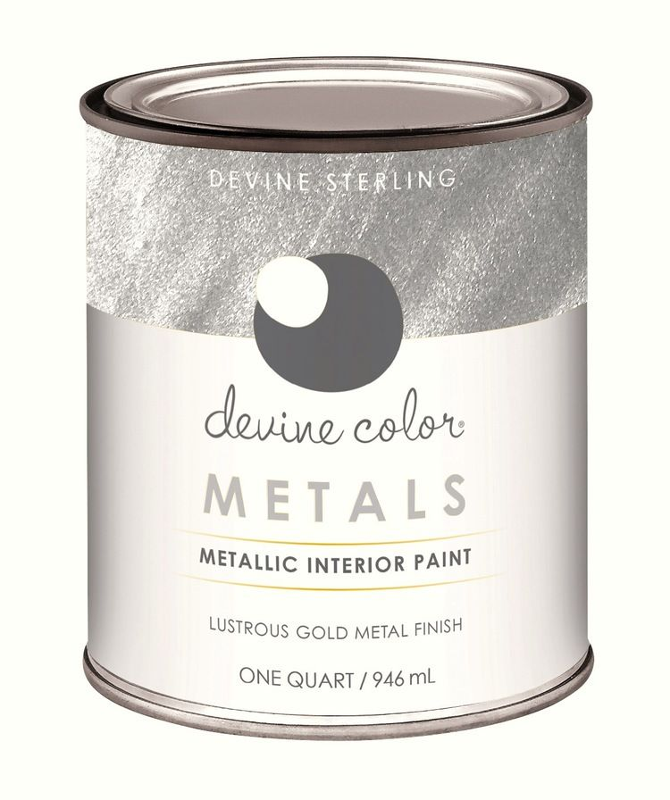 Paint Silvers: Devine Color Silver Metallic Paint Is So Easy To Use