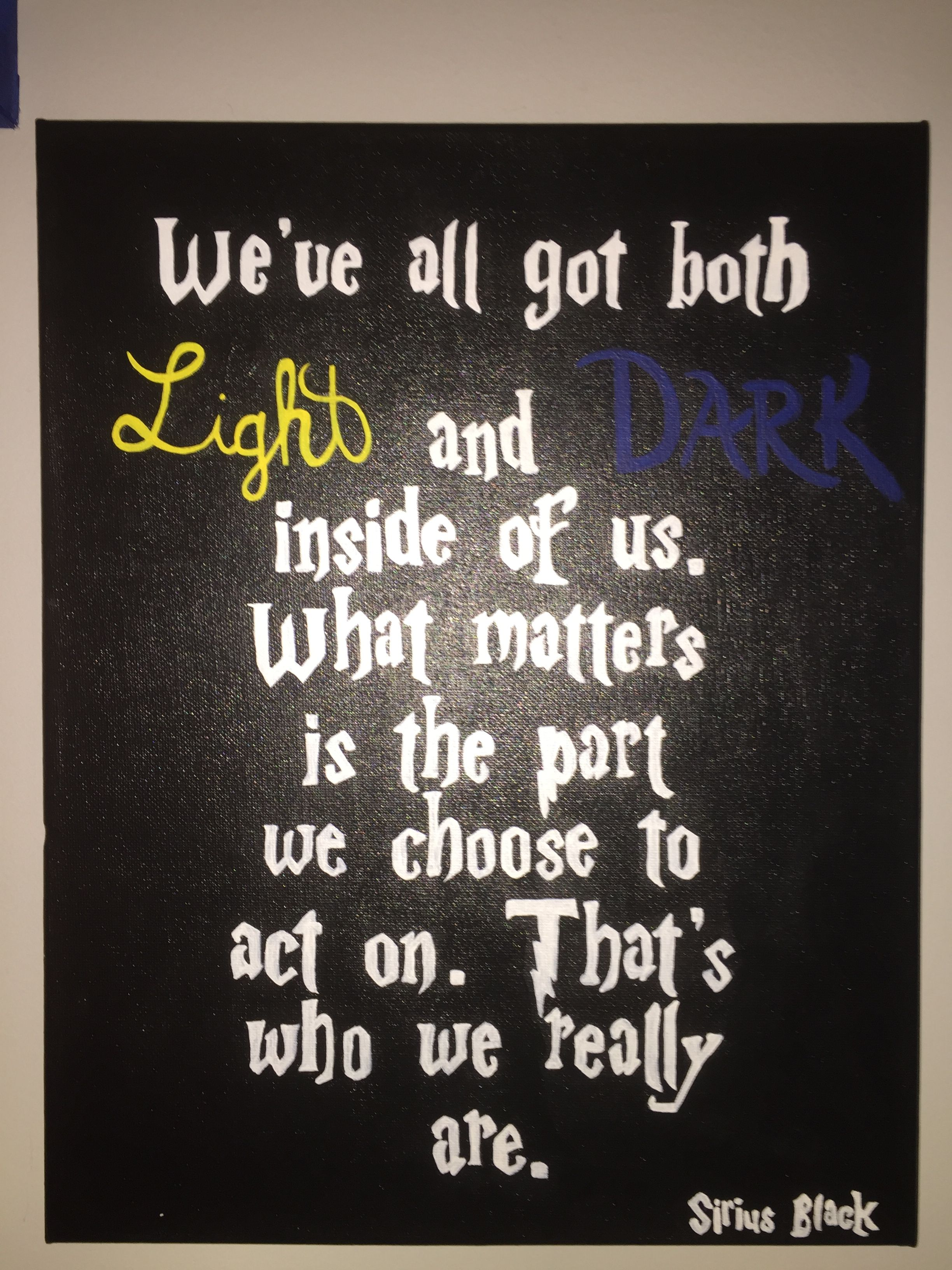 Light And Dark Quotes Harry Potter Sirius Black Order Of The Phoenix Light And Dark