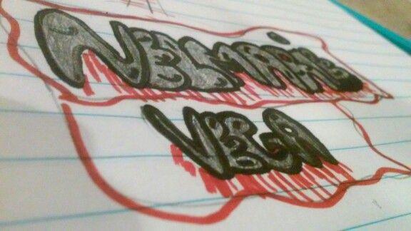 I am good at graffiti spelled Nelmarie Vega