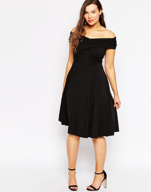 Robe cocktail fille ronde