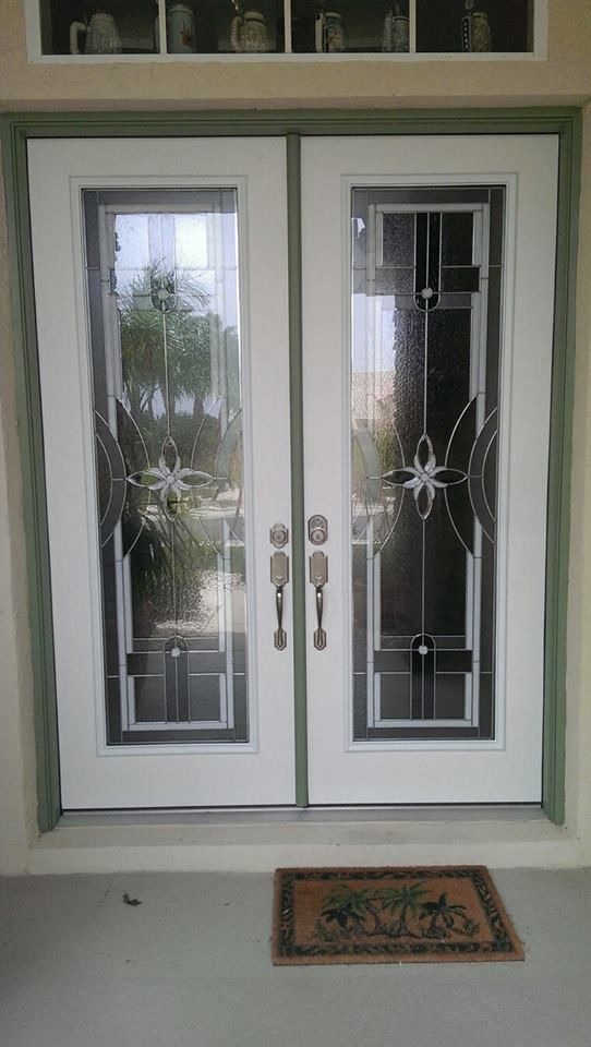 ODL Delray door glass decorative insert, double fiberglass exterior ...