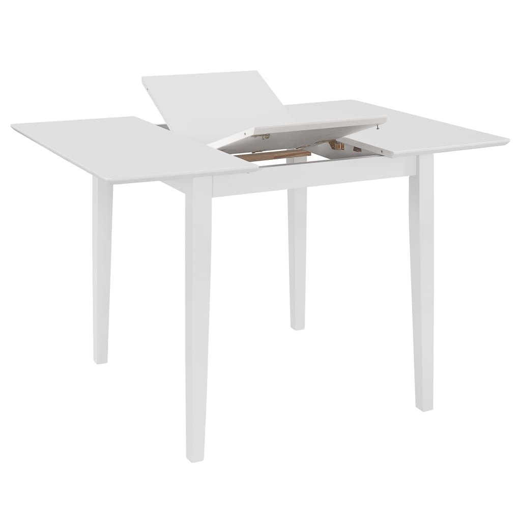 vidaXL Extendable Dining Table White (80-120)x80x74 cm MDF