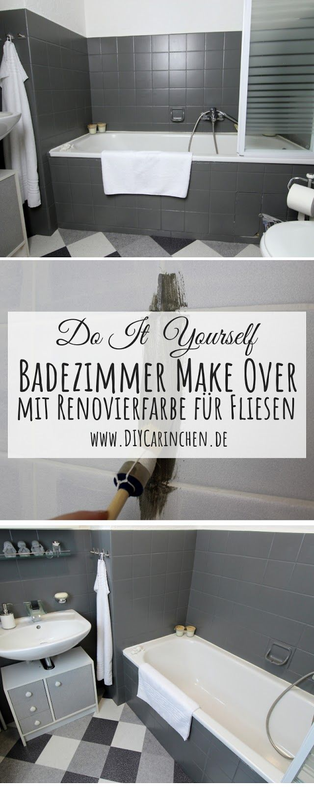 Bastelidee Diy Basteln Selbermachen Makeover Upcycling Badezimmer Interior Modern Anleitung Tutorial Anzeige Diy Bathroom Renovations Upcycled Home Decor Diy Bathroom Decor