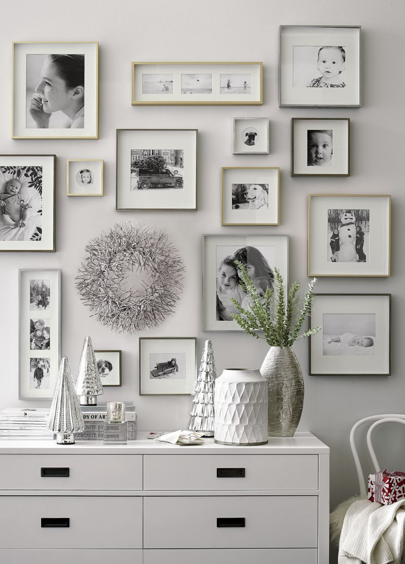 Brushed Silver Triple 4x6 Wall Frame Products Frames On Wall