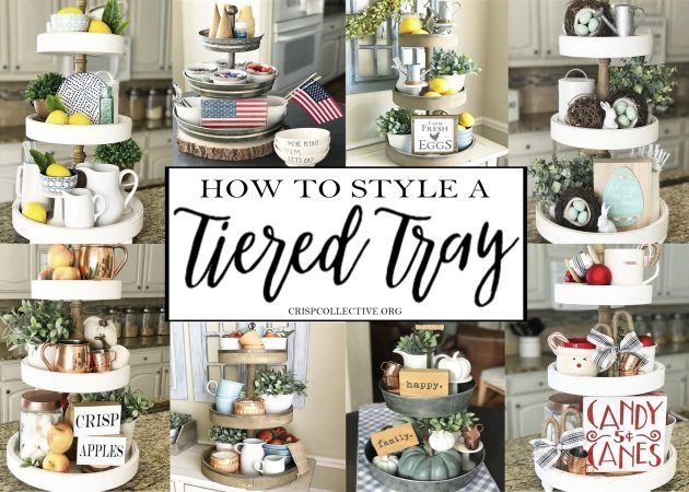 How To Style a Tiered Tray - Crisp Collective #tieredtraydecor